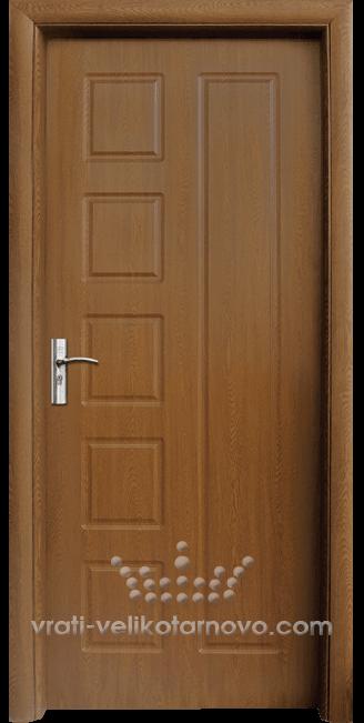 Интериорна HDF врата, модел 048-P Златен дъб
