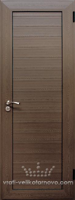 Алуминиева врата за баня, Орех
