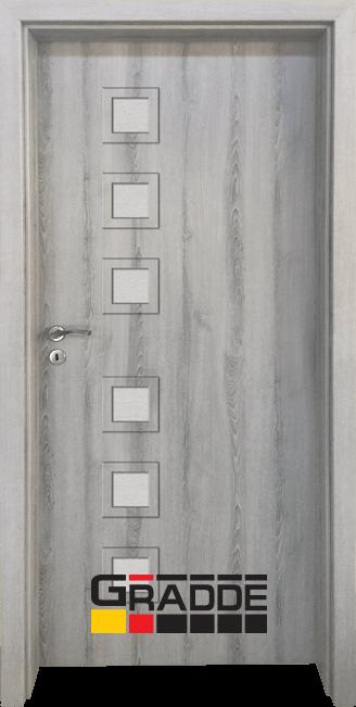 Интериорна HDF врата, модел Gradde Reichsburg, Ясен Вералинга
